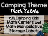 Camping Theme Classroom Decor: Math Center Labels