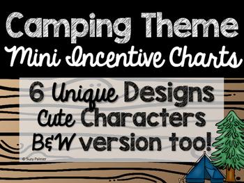 Camping Theme Classroom Decor: Mini Incentive Charts