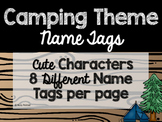 Camping Theme Classroom Decor: Name Tags