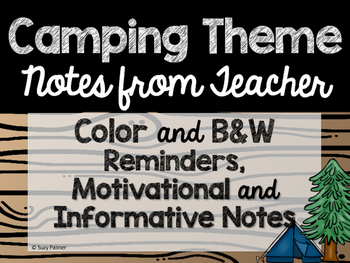 Camping Theme Classroom Decor: Notes from Teacher