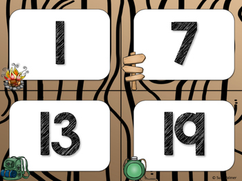 Camping Theme Classroom Decor: Numbers 1-100