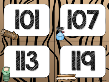 Camping Theme Classroom Decor: Numbers 101-200