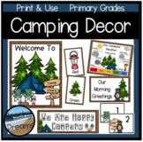 Camping Theme Calendar Set  and Classroom Decor for a Comp