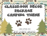 Camping Theme Classroom Decor Package