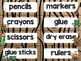 Camping Theme Classroom Decor: Supply Labels