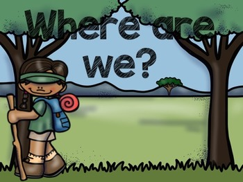 Camping Theme Classroom Decor: Where Are We? Sign