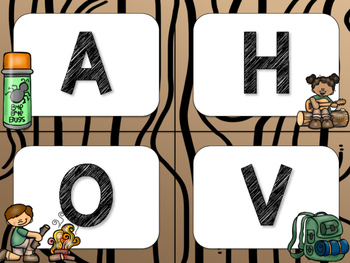 Camping Theme Classroom Decor: Word Wall Headers
