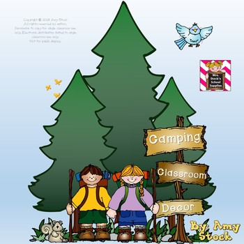 Camping Theme Classroom Decor pack