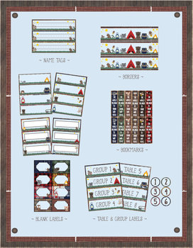 Camping Theme - Classroom Decoration - All in One Bundle