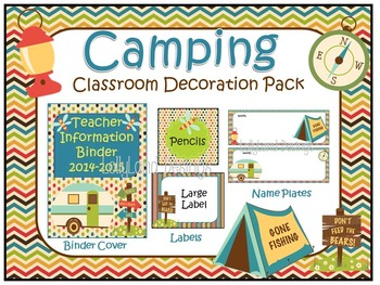 Camping Theme Classroom Decoration Pack