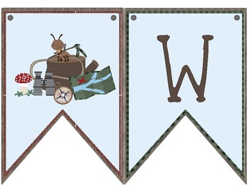 Camping Theme Classroom Decoration - Welcome Banner