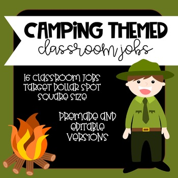 Camping Theme Classroom Jobs