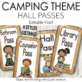 Camping Theme Hall Passes:  Camping Theme Classroom Decor