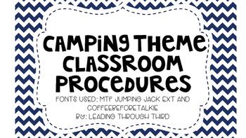 Camping Theme Classroom Procedures
