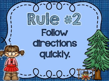 Camping Theme Classroom Rules Including Editable Rules!