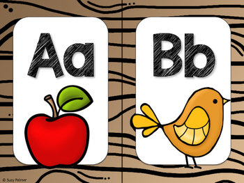 Camping Theme Classroom Decor: Alphabet Cards