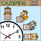 Camping Theme Telling Time Clock Labels