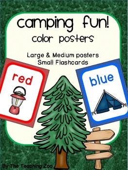 Camping Theme Color Identification Posters