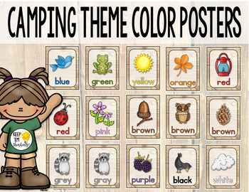 Camping Theme Color Posters - Camping Theme Classroom Decor