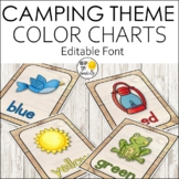 Camping Theme Color Posters EDITABLE! - Camping Theme Classroom Decor
