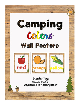 Camping Theme Color Wall Posters