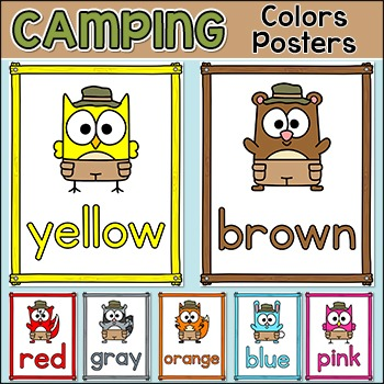 Camping Theme Colors Posters