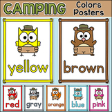 Camping Theme Colors Posters - Forest Animals Classroom Decor