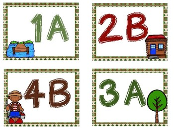 Camping Theme - Cooperative Learning Desk Tags