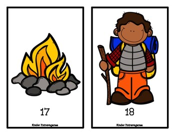 Camping Theme Counting Mats