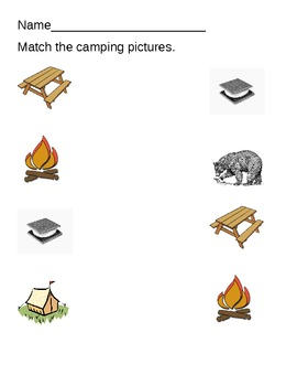 Camping Theme Counting and Matching