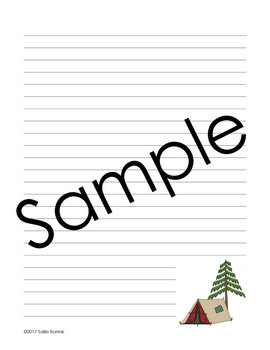 Camping Theme Creative Writing Prompts and Papers
