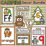 Camping Theme Classroom Decor Bundle - Teacher's Binder, Name Tags, Jobs etc