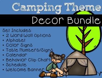 Camping Theme Decor Bundle