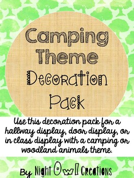 Camping Theme Decoration Pack