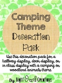 Camping or Woodland Animals Theme Decoration Pack