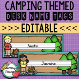 Camping Theme Desk Helper Name Tags (Editable)