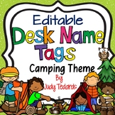 Camping Theme Desk Name Tags (Editable)
