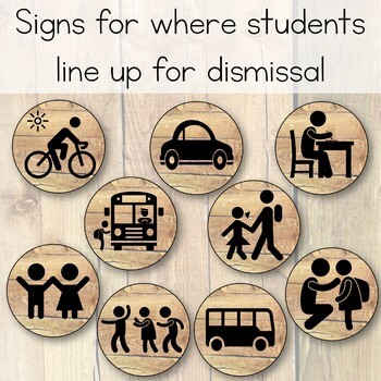 Camping Theme Dismissal Chart - How We Go Home: Camping Theme Classroom Decor