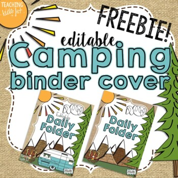 Camping Theme Editable Folder Cover