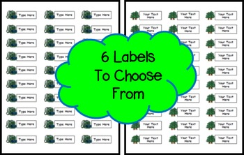 Camping Theme Labels EDITABLE