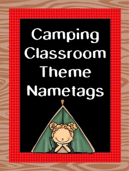 Camping Theme Editable Nametags