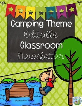 Camping Theme Editable Newsletters