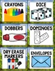 Camping Theme Editable Supply Labels