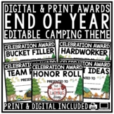 Camping Theme End of Year Editable Awards