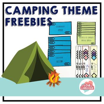 Camping Theme Freebies: Editable!