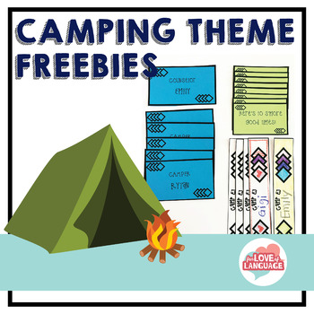Camping Theme Freebies: Editable!