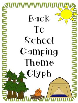 Camping Theme Glyph