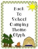 Camping Theme Glyph