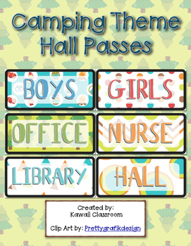 Camping Theme Hall Passes