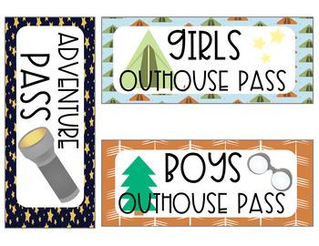 Camping Theme Hallway Passes